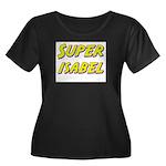 Super isabel Women's Plus Size Scoop Neck Dark T-S