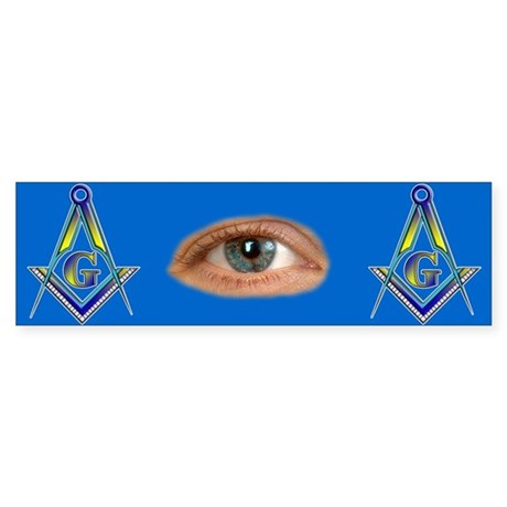 Masonic All Seeing Eye Bumper Sticker