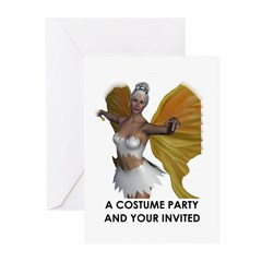 COSTUME PARTY INVITATION Cards (Pk of 10)