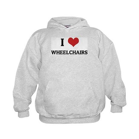 I Love Wheelchairs Kids Hoodie