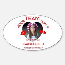ISABELLE J Oval Decal