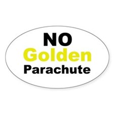 No Golden Parachute Oval Decal