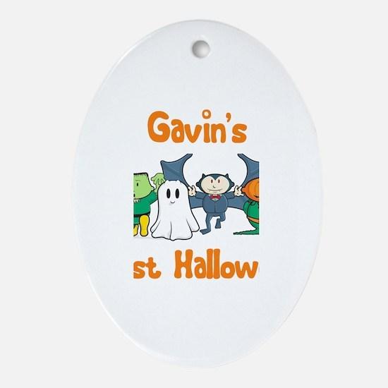 Gavin's First Halloween Oval Ornament