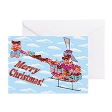 Helicopter Christmas Gift Greeting Cards (Pk of 10