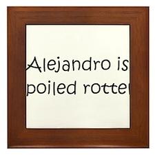 Cool Alejandro Framed Tile