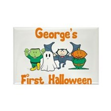 George's First Halloween Rectangle Magnet