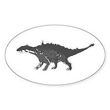 Ankylosaur Oval Decal