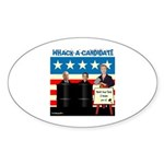 Whack A Candidate Oval Sticker