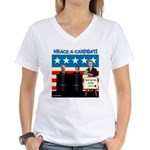 Whack A Candidate Women's V-Neck T-Shirt