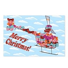 Helicopter Christmas Gift Postcards (Package of 8)