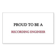 Proud to be a Recording Engineer Decal