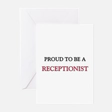 Proud to be a Receptionist Greeting Cards (Pk of 1