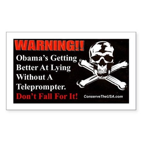"""Getting Better At Lying"" Sticker (Recta"