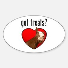 Got Treats? Cute Horse Oval Decal