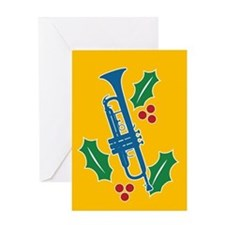 Trumpet Holly Greeting Card