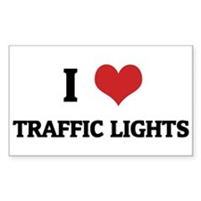 I Love Traffic Lights Rectangle Decal