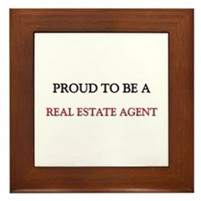 Proud to be a Real Estate Agent Framed Tile