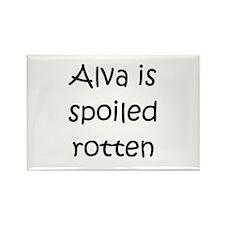 Funny Alva Rectangle Magnet