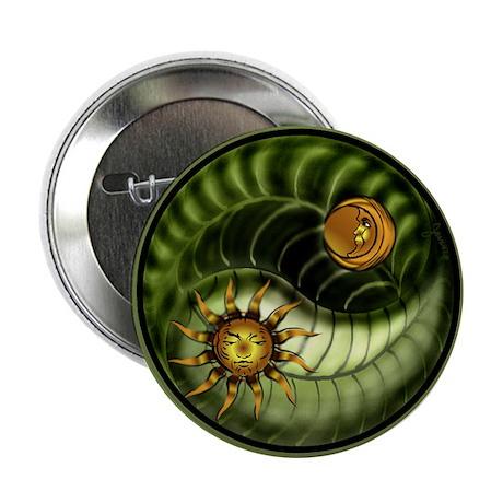 "Earth Day Yin Yang 2.25"" Button"