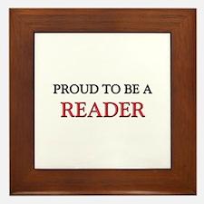 Proud to be a Reader Framed Tile