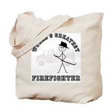 World's Greatest Firefighter Tote Bag