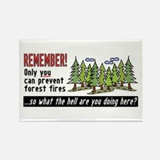 Forest Fires Rectangle Magnet