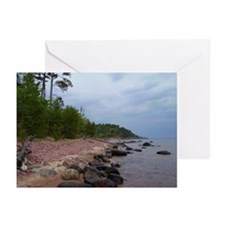 Superior Shore (cloudy day) Greeting Cards (Packag