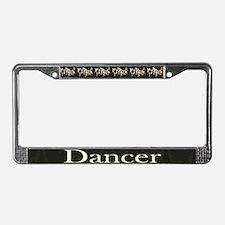 Dancer Dark License Plate Frame