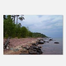 Superior Shore (cloudy day) Postcards (Package of