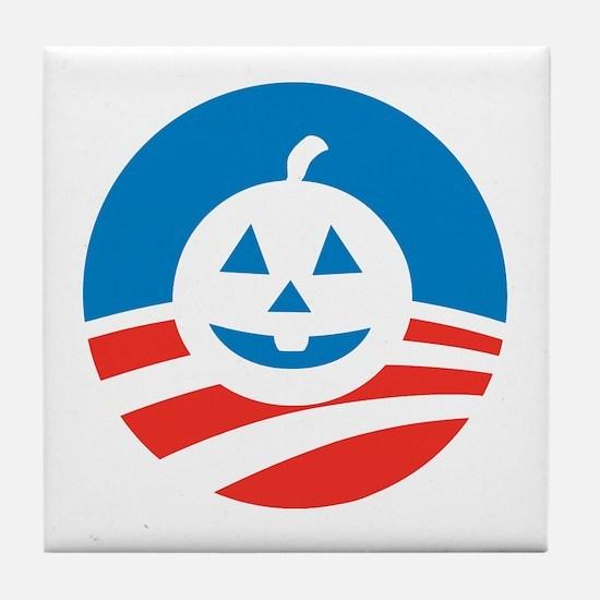 Obamaween Tile Coaster