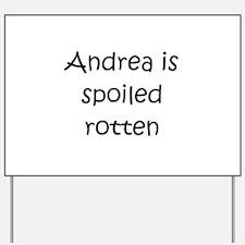Cute Andrea Yard Sign