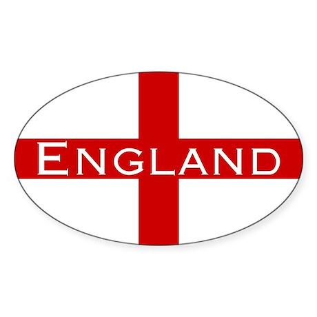 George Cross England Oval Sticker