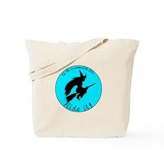 Halloween Witch Aqua Tote Bag