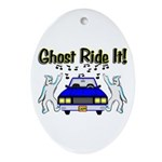Ghost Ride It Oval Ornament