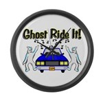 Ghost Ride It Large Wall Clock