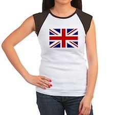 Union Jack/UK Flag Women's Cap Sleeve T-Shirt