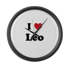 I love Leo Large Wall Clock