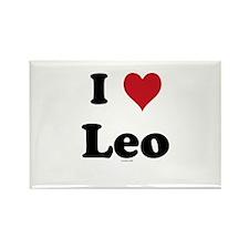 I love Leo Rectangle Magnet