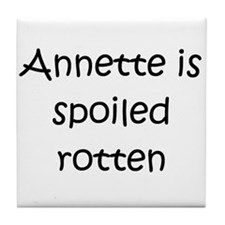 Cute Annette Tile Coaster