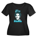 FROBAMA Women's Plus Size Scoop Neck Dark T-Shirt