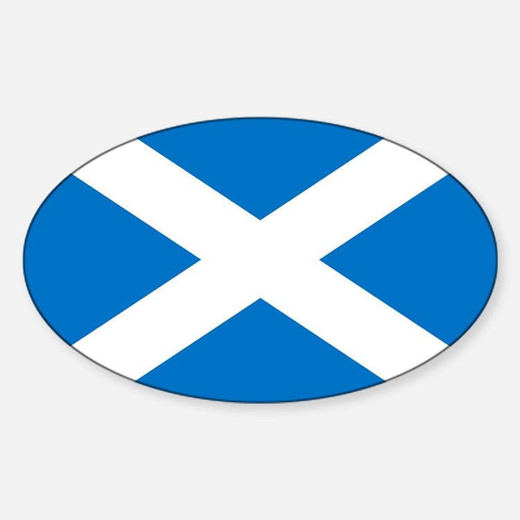 Scotland - St Andrews Cross - Oval Decal