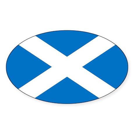 Scotland - St Andrews Cross - Oval Sticker