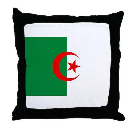Flag of Algeria Throw Pillow