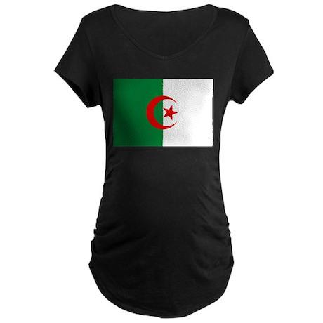 Flag of Algeria Maternity Dark T-Shirt