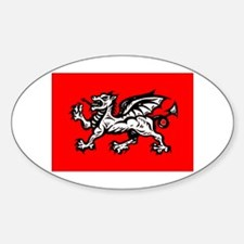 Englands Dragon Oval Decal
