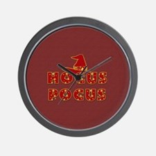 Witches Hat Hocus Pocus Red Wall Clock
