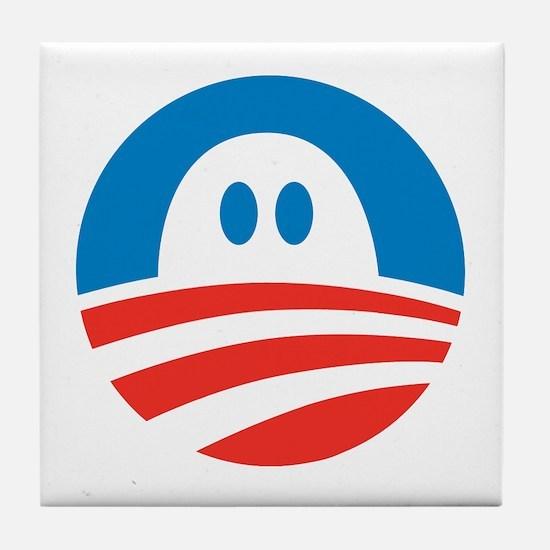 Obama Spooktacular Tile Coaster