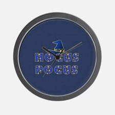 Hocus Pocus Witches Hat Blue Wall Clock