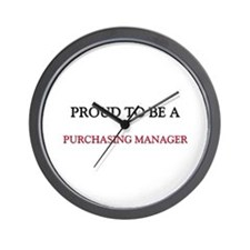Proud to be a Purchasing Manager Wall Clock