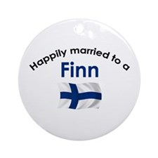 Happily Married Finn 2 Ornament (Round)